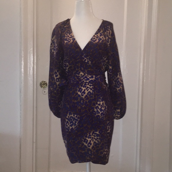 Parker Dresses & Skirts - Parker animal printed silk wrap dress